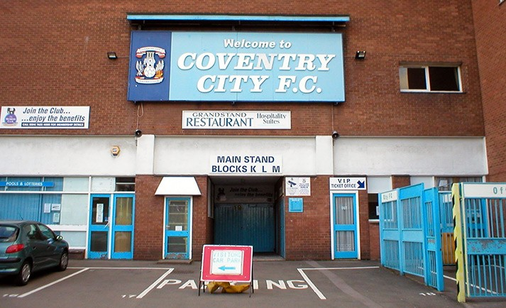 External shot of Coventry's old Highfield Road stadium from April 2004
